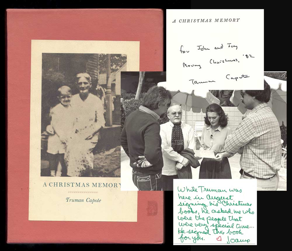 Truman Capote A Christmas Memory.A Christmas Memory Signed By Truman Capote On Tbcl The Book Collector S Library