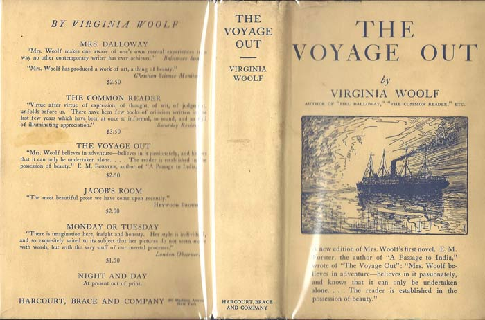 THE VOYAGE OUT. In Dustwrapper at https://www.tbclrarebooks.com/pages/books/32448/virginia-woolf/the-voyage-out-in-dustwrapper