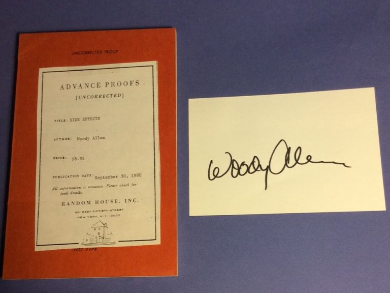 SIDE EFFECTS. Signed. Woody Allen