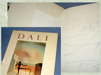 DALI [ Introduction by Michel Tapie ]. Inscribed