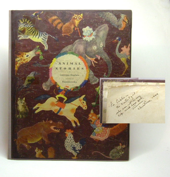 ANIMAL STORIES BY GEORGES DUPLAIX. Family Copy. Truman Capote