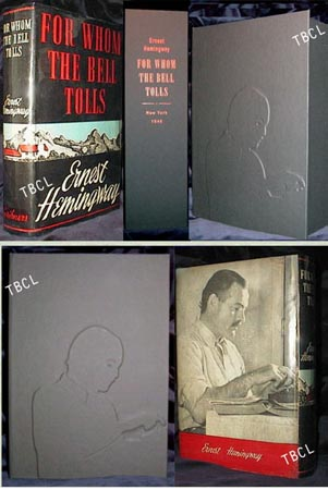 FOR WHOM THE BELL TOLLS. Custom Collector's 'Sculpted' Clamshell Case. Ernest Hemingway