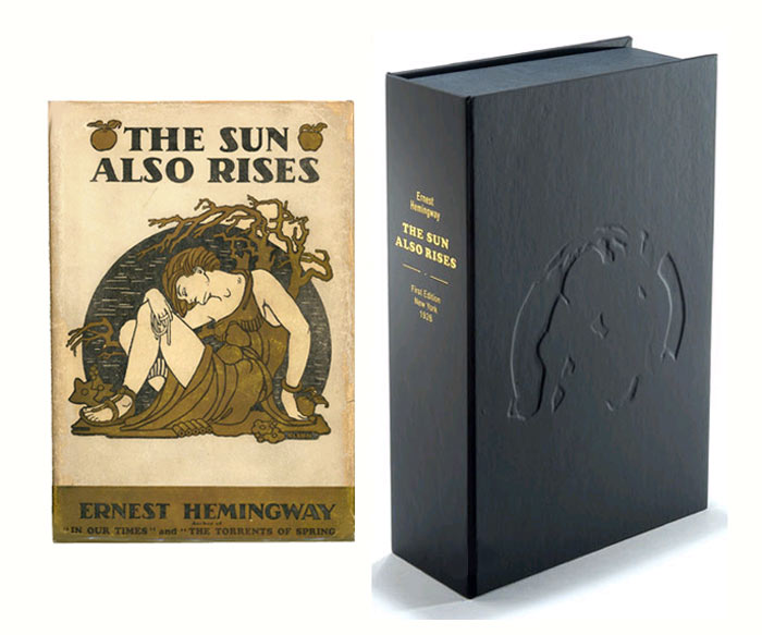THE SUN ALSO RISES.Custom Collector's 'Sculpted' Clamshell Case. Ernest Hemingway