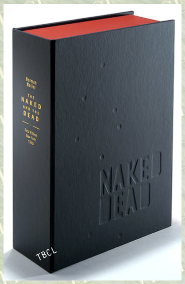 THE NAKED AND THE DEAD.Custom Collector's 'Sculpted' Clamshell Case. Norman Mailer.