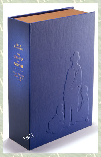 THE GRAPES OF WRATH.Custom Collector's 'Sculpted' Clamshell Case. John Steinbeck