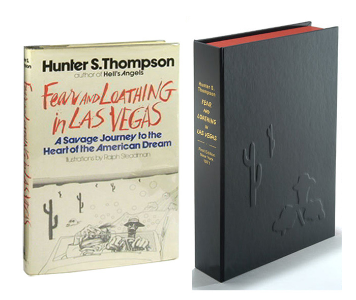 FEAR & LOATHING IN LAS VEGAS. Custom Collector's 'Sculpted' Clamshell Case Only. Hunter S. Thompson