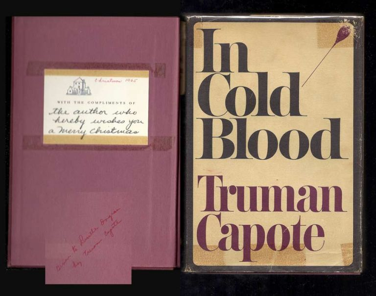 IN COLD BLOOD. Family Presentation Copy. Truman Capote