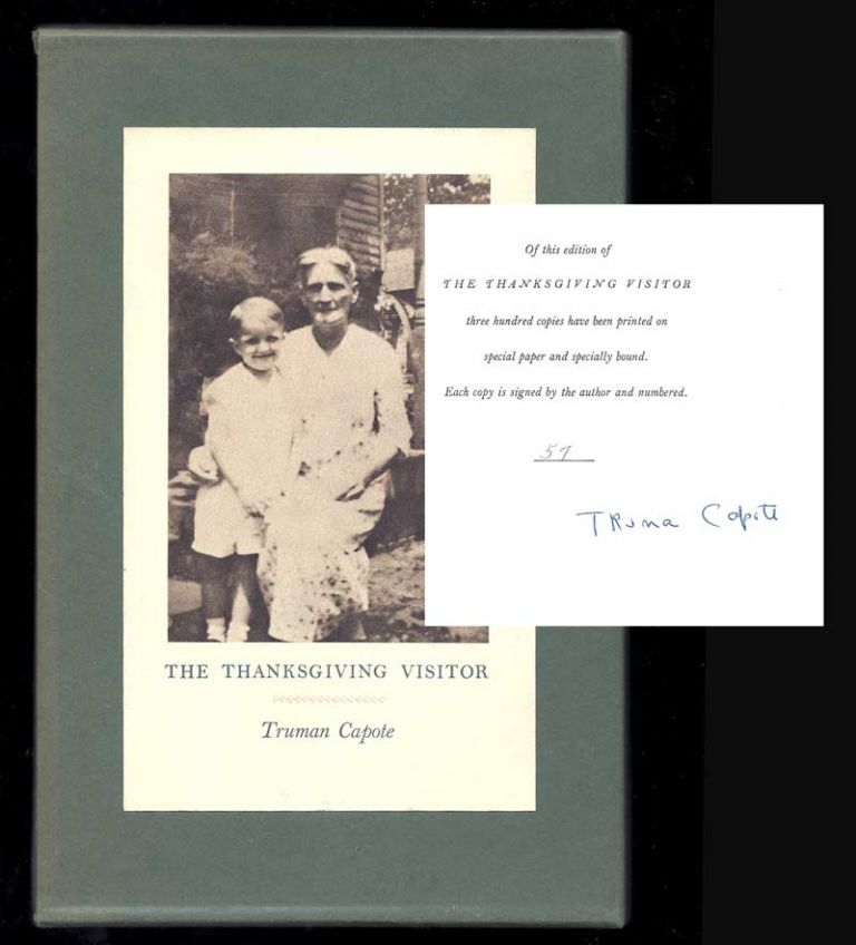 THE THANKSGIVING VISITOR. Signed. Truman Capote