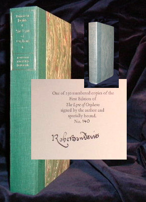 THE LYRE OF ORPHEUS. Signed. Robertson Davies