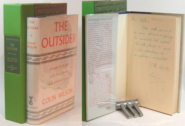 THE OUTSIDER. Inscribed to Stephen Spender. Colin Wilson.