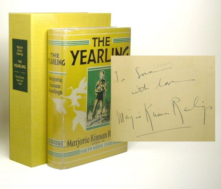 THE YEARLING. Signed. Marjorie Kinnan Rawlings