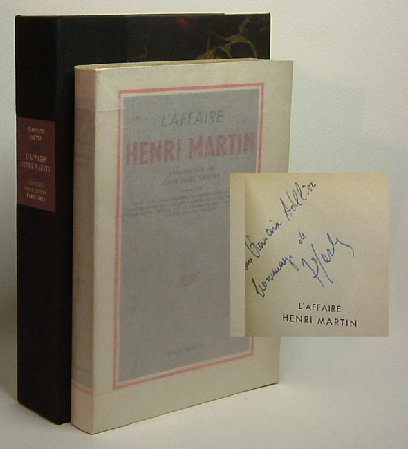 L'AFFAIRE HENRI MARTIN. COMMENTAIRE DE JEAN-PAUL SARTRE. Signed. Jean-Paul Sartre.