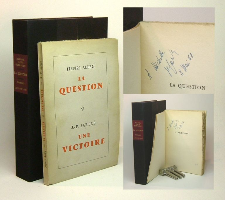 LA QUESTION - UNE VICTOIRE. Signed. Henri Alleg, Jean-Paul Sartre.