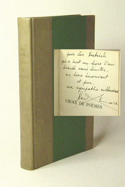 CHOIX DE POEMES. Inscribed. Paul Eluard.