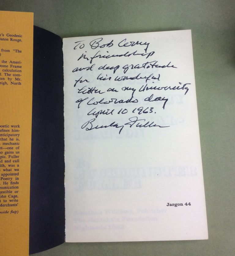 UNTITLED EPIC POEM ON THE HISTORY OF INDUSTRIALIZATION. Signed. R. Buckminster Fuller.