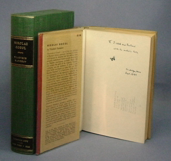 NIKOLAI GOGOL. Inscribed to the Thompsons. Vladimir Nabokov