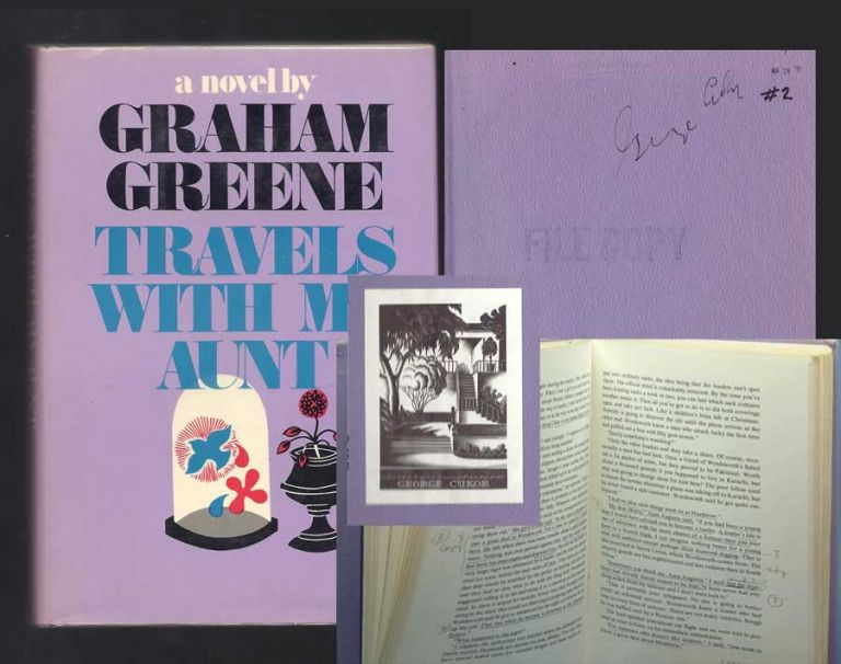 TRAVELS WITH MY AUNT. Signed. Graham Greene