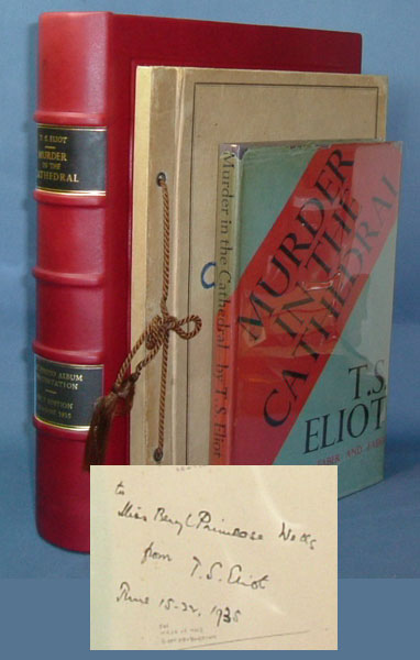MURDER IN THE CATHEDRAL. Presentation Copy & Cast Photo Album. T. S. Eliot.