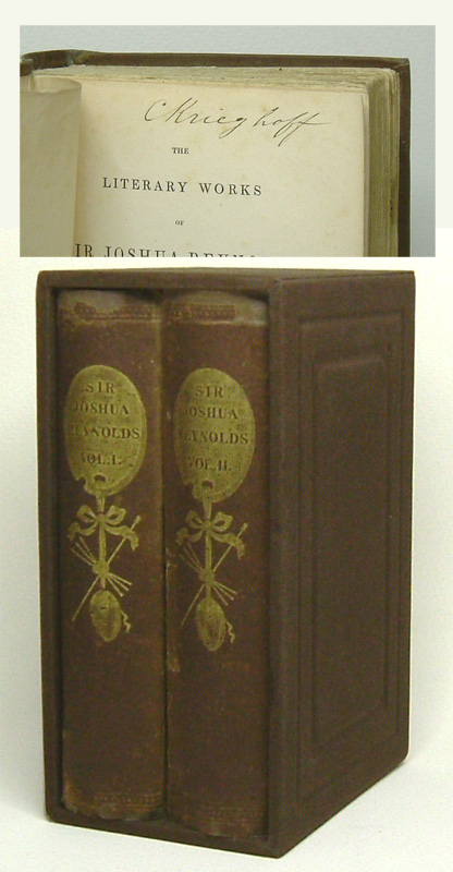 THE LITERARY WORKS OF SIR JOSHUA REYNOLDS. By Henry William Beechey. Signed. Cornelius Krieghoff.