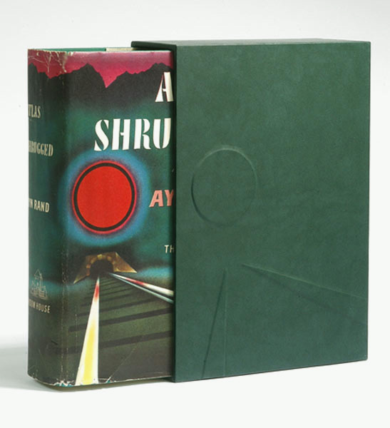 ATLAS SHRUGGED. Custom Collector's 'Sculpted' SLIPCASE Only. Ayn Rand