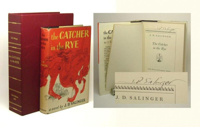THE CATCHER IN THE RYE. Signed. J. D. Salinger.