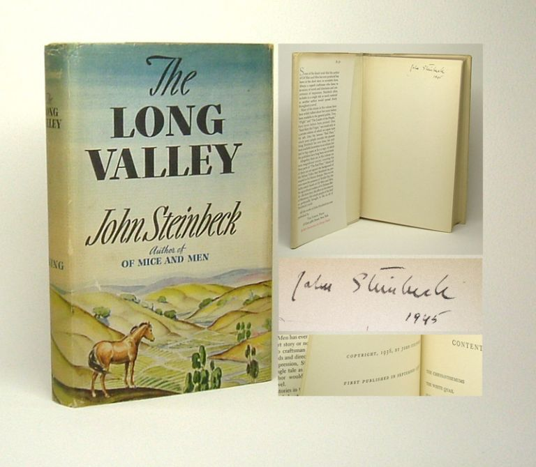 THE LONG VALLEY. Signed. John Steinbeck.
