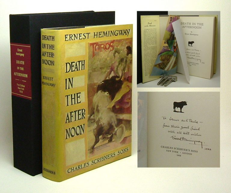 DEATH IN THE AFTERNOON. Signed. Ernest Hemingway