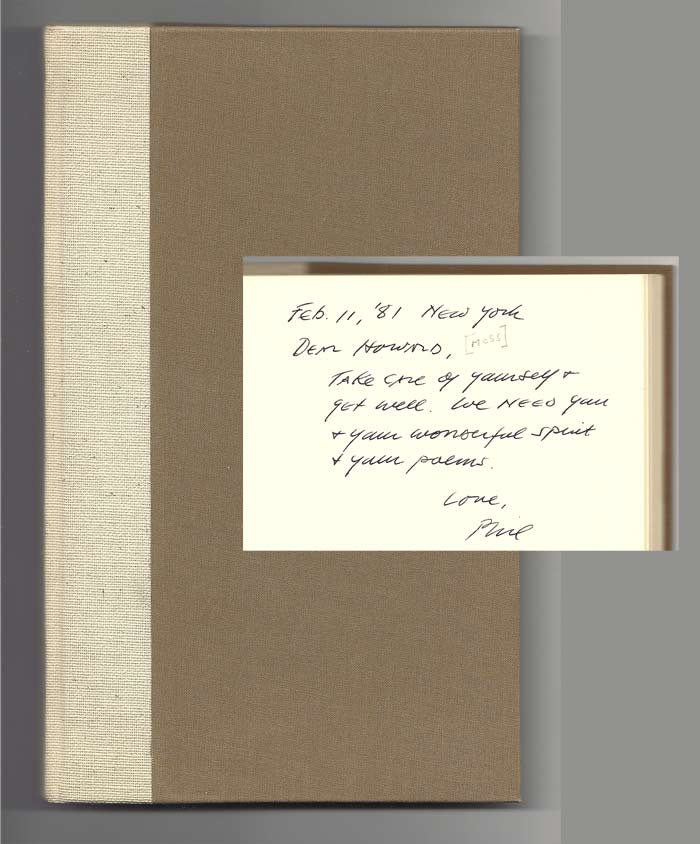 ASHES. POEMS NEW & OLD. Inscribed. Howard Moss, Philip Levine