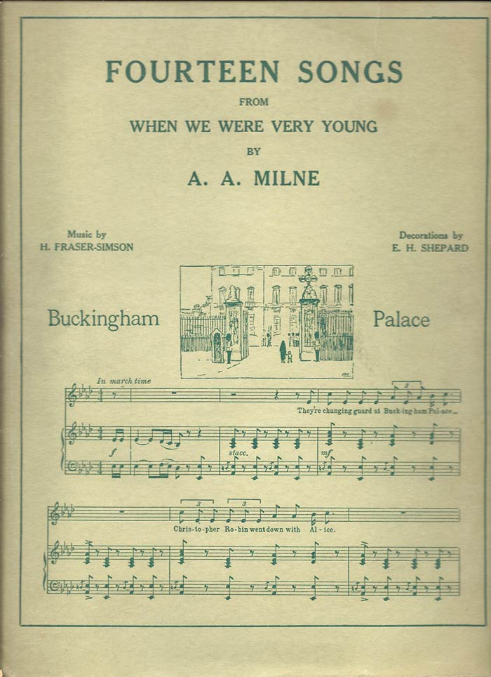 FOURTEEN SONGS FROM WHEN WE WERE VERY YOUNG. A. A. Milne.