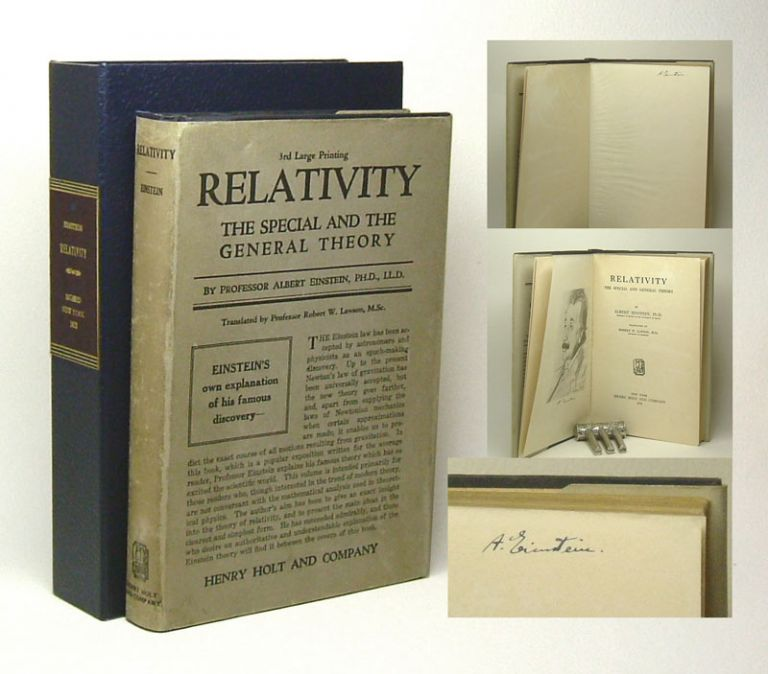 RELATIVITY. The Special And The General Theory. Signed. Albert Einstein.