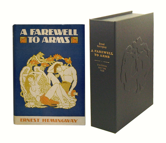 A FAREWELL TO ARMS.Custom Collector's 'Sculpted' Clamshell Case. Ernest Hemingway