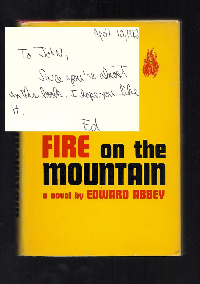 FIRE ON THE MOUNTAIN. Signed. Edward Abbey.