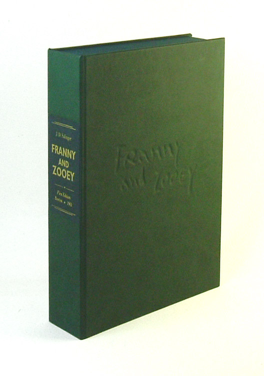 FRANNY AND ZOOEY. Custom Collector's 'Sculpted' Clamshell Case. J. D. Salinger
