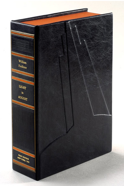 LIGHT IN AUGUST. Custom Clamshell Case Only. William Faulkner.