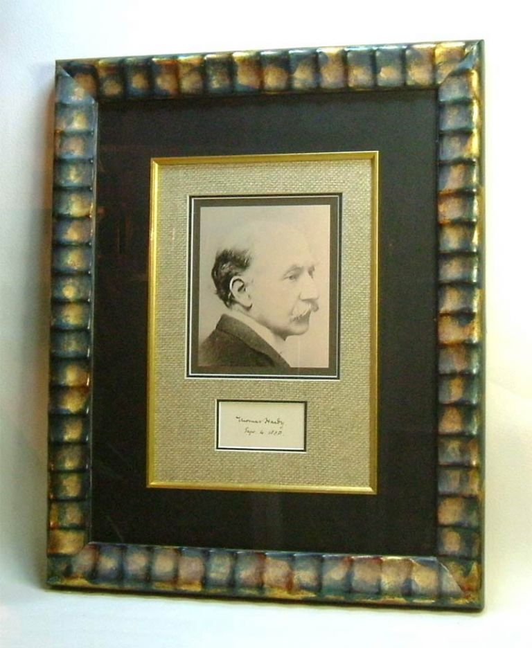 Original Autograph Display. Thomas Hardy