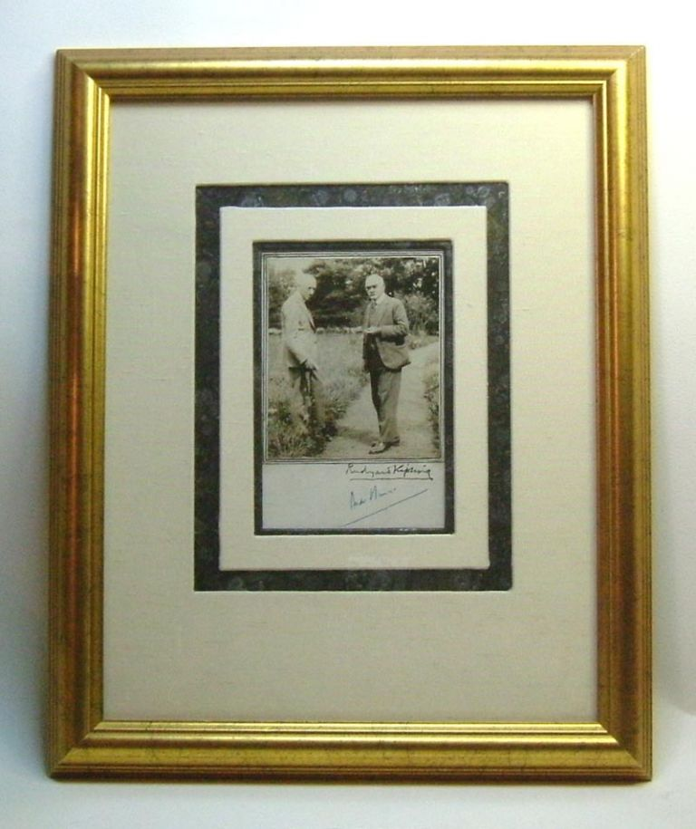 Original [Double] Signed Photograph. Rudyard Kipling