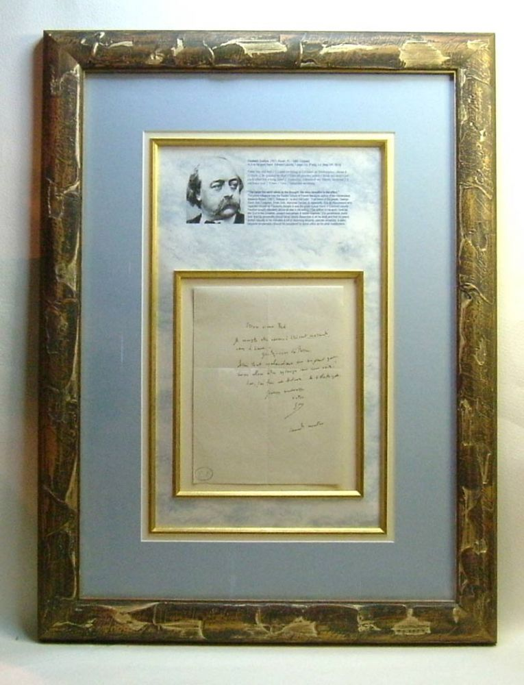 Original Autograph Letter Display