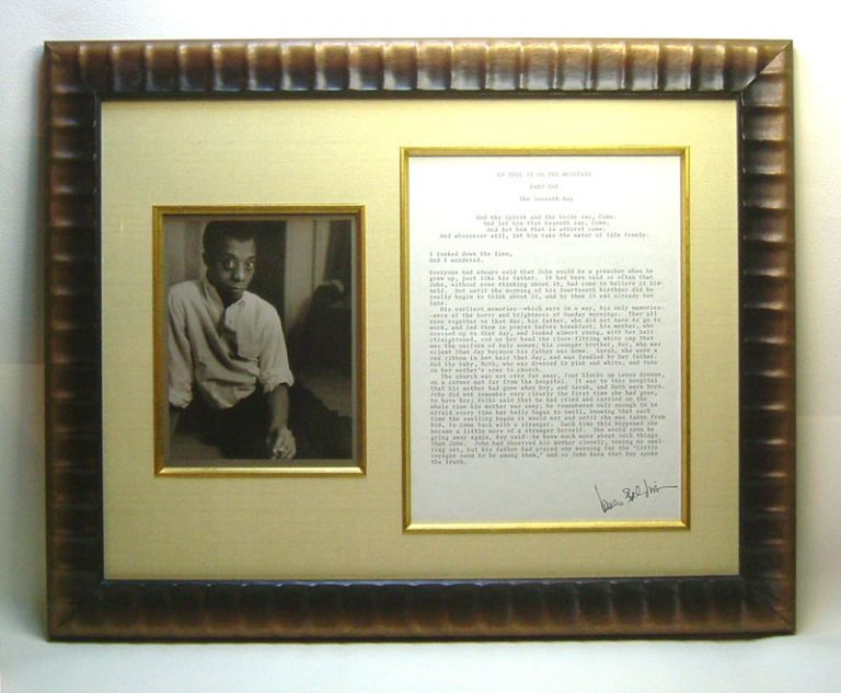 GO TELL IT ON THE MOUNTAIN. Original Autograph Document Display. James Baldwin.