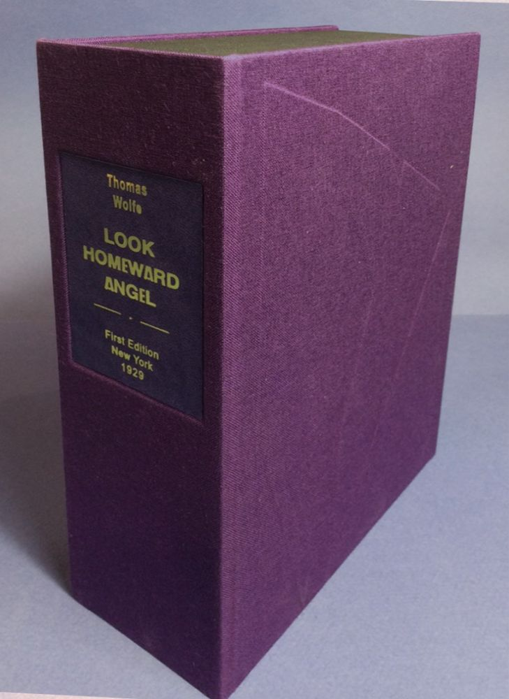 LOOK HOMEWARD ANGEL. Custom Clamshell Case Only. Thomas Wolfe