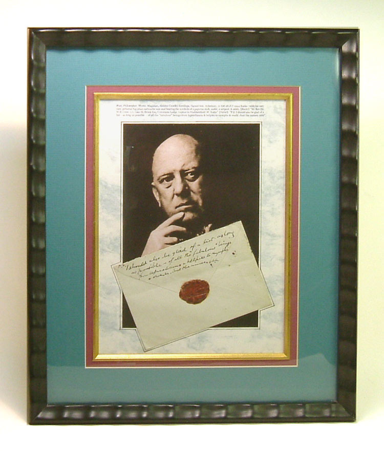 HOLOGRAPH ENVELOPE BEARING RARE WAX SEAL OF ALEISTER CROWLEY. Signed. Aleister Crowley.