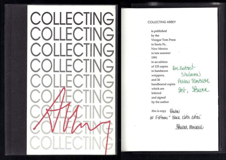COLLECTING ABBEY. A Checklist Of The First Editions Of Edward Abbey. Edward Abbey, Spencer Maxwell.