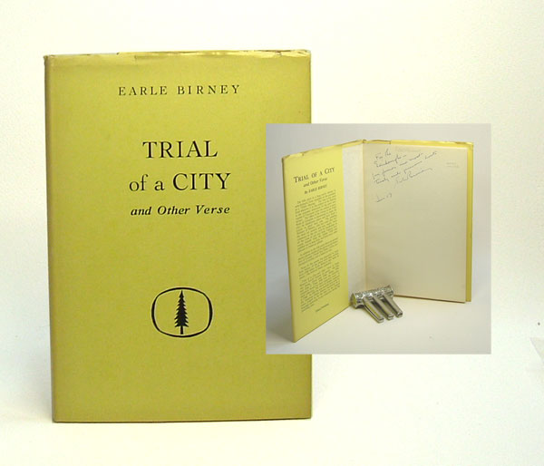 TRIAL of a CITY and Other Poems. Signed. Earl Birney.