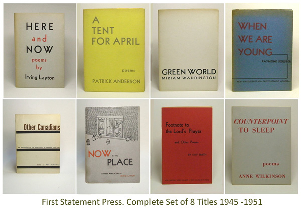 First Statement Press - New Writer's Series. Montreal, 1945 - 1951.