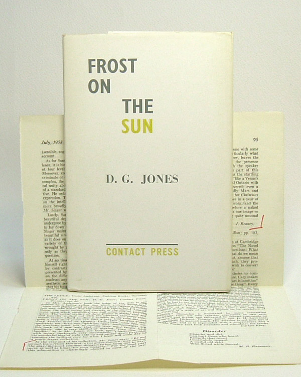 FROST ON THE SUN. D. G. Jones