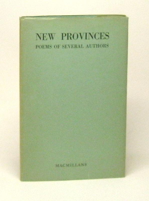 NEW PROVINCES. Poems of Several Authors.