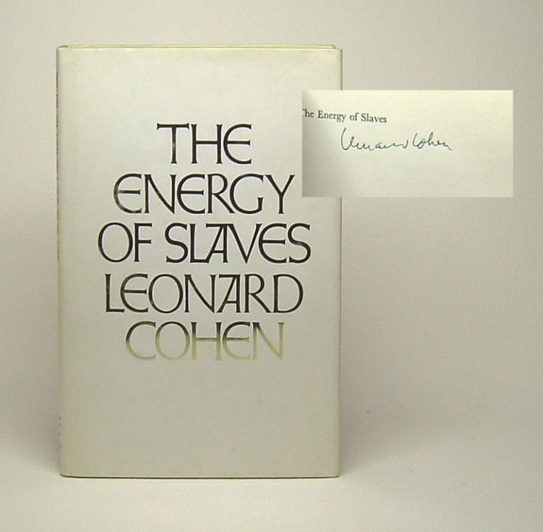 THE ENERGY OF SLAVES. Signed.