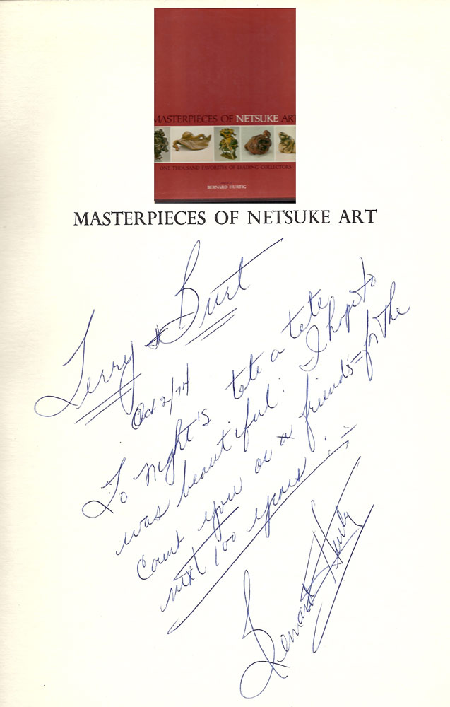 MASTERPIECES OF NETSUKE ART: One Thousand Favorites of Leading. Bernard Hurtig