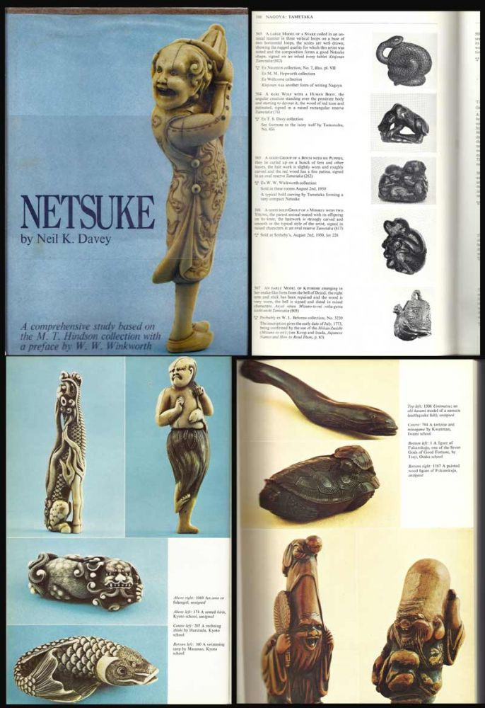 NETSUKE. A Comprehensive Study Based On The M.J. Hindson Collection. Neil K. Davey.