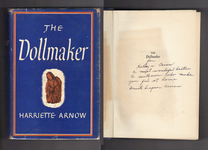 THE DOLLMAKER. Presentation Copy. Harriette Arnow.
