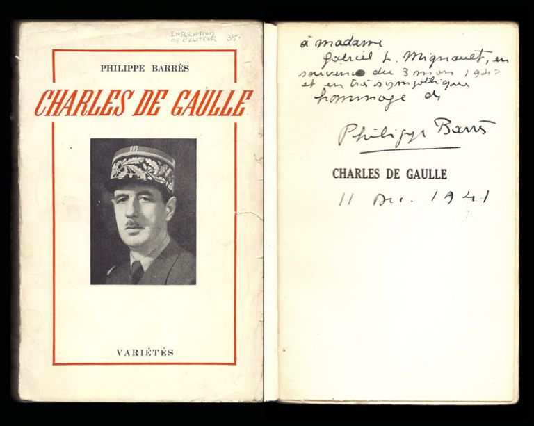 CHARLES DE GAULLE. Philippe Barres